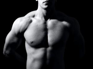 Männlicher muskulöser Oberkörper